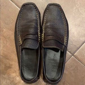 Dark Brown leather LV loafers